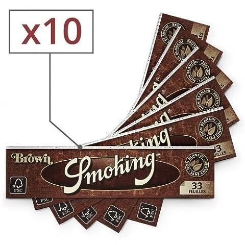 papier à rouler smoking slim brown x10