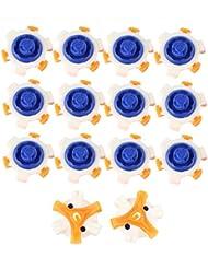 VERY100 14pcs Tacos para Zapatos de Golf,azul+amarillo+blanco