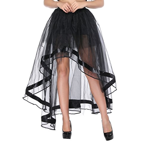 titivate Damen Vintage Steam Punk Rock Gothic Chiffon Spitze Cocktail Party Kostüm Slip Schwarz...