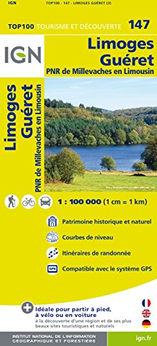 Top100147 Limoges/Gueret 1/100.000