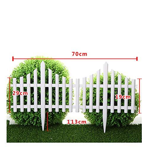 WXQ Garten Fechten Screening wasserdichte PVC-Außendekoration Pflanze Boundary Outdoor Park Weiß, 12 Größen (Color : White, Size : G)