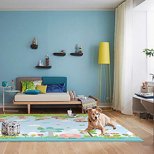 Man9Han1Qxi Tier Ripple Design Reversible Baby Kleinkind Spielen Kriechmatte Wasserdichter Teppich Kriechmatte Animals Ripple#