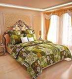 Amethyst Checks Cotton Double Bedsheet w...