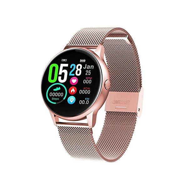 naack smartwatch, Reloj Inteligente Impermeable IP68 Pulsera de Actividad Pulsómetro Monitor de sueño Deportivo… 1