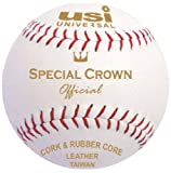 USI Leather Special Crown Baseball, 9in (White)