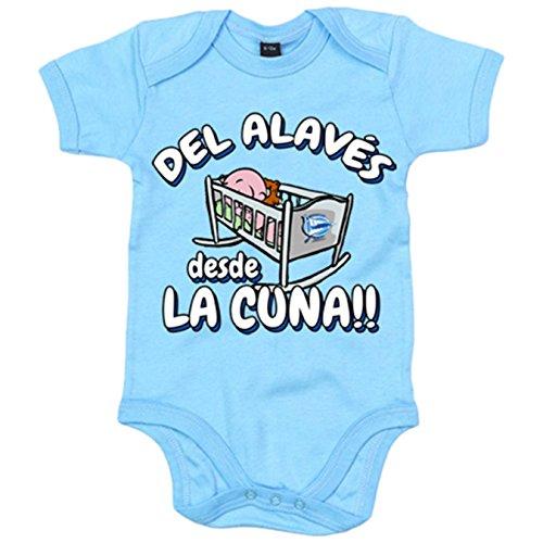 Body bebé del Alavés desde la cuna - Celeste, 6-12 meses
