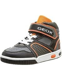 Geox B Glimmer, Baskets mode bébé garçon - Marron (Cognacc6001), 27 EU