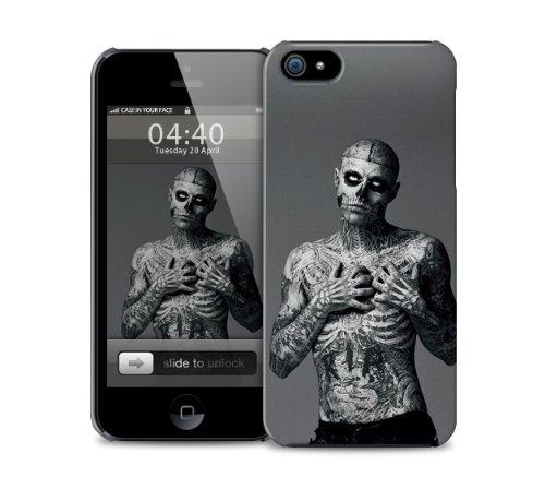Zombie Boy, TŠtowierung Skelett und SchŠdel iPhone 6 Kunststoff-Schutztelefon-Kastenabdeckung (Bild zeigt iPhone 5 Beispiel)