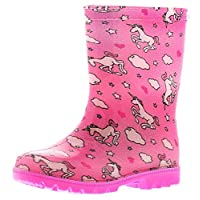 Princess Stardust Trixie Girls Synthetic Material Wellies Pink