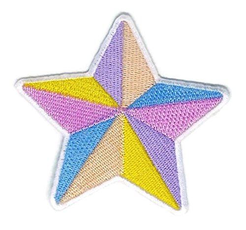 Colorful Star Cartoon bestickt Nähen Eisen auf Patch Cartoon Nähen Eisen auf bestickte Applikation Craft handgefertigt Baby Kid Girl Frauen Tücher DIY Kostüm Zubehör