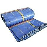 ZXQZ Bâche Bâche, épaissie par camion imperméable de tissu de parasol Bâche extérieure imperméable à la pluie de toile de protection solaire de tissu Bâches (Couleur : Bleu, taille : 2 * 3 M)