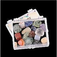 AITELEI Aiteli - Juego DE 32 Piedras semipreciosas Naturales pulidas para la Colección de Piedras de Piedra, Cristales y Piedras de Curación, Cristales de Curación Premium en Caja de acrílico