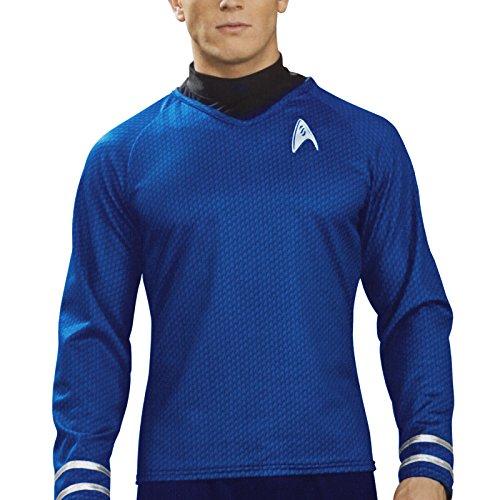 Star Trek - Mr. Spock Movie Deluxe Shirt, Star Trek Uniform mit Emblem, Kostümteil - (Trek Halloween Star)