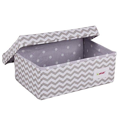 Minene Small Storage Box Chevrons (Grey/White)