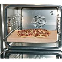 Europart 10021639 Pizzastein Brotbackstein Schamottstein lebensmittelecht 400x300x30mm universell einsetzbar Backofen Ofen Herd Grill für Pizza Brot Flammkuchen