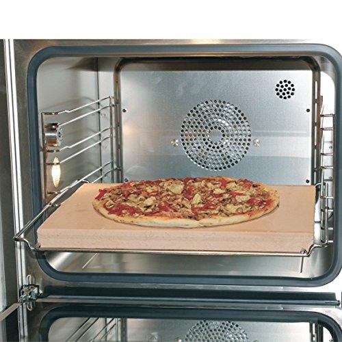 Produktbild Europart 10021639 Pizzastein Brotbackstein Schamottstein lebensmittelecht 400x300x30mm universell einsetzbar Backofen Ofen Herd Grill für Pizza Brot Flammkuchen