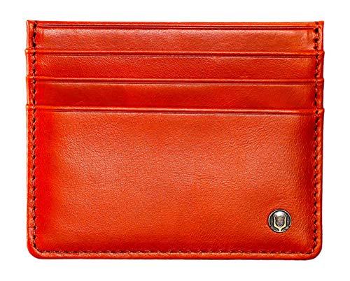 Cronus & Rhea Kartenhalter aus exklusivem Leder (Argos) | Kartenetui - Kreditkartenetui - Kartenhülle - Ausweishülle | Echtleder | Mit eleganter Geschenkbox | Herren - Damen (Cognac)