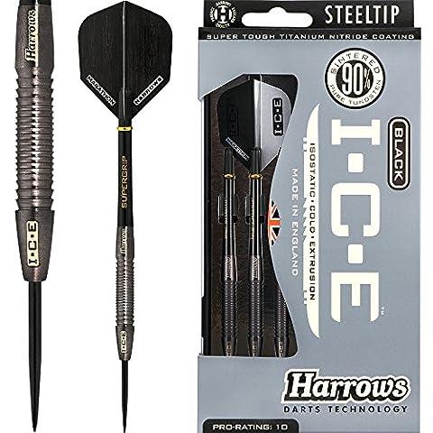 Harrows Black ICE Darts - Steel Tip Blackened Tungsten -