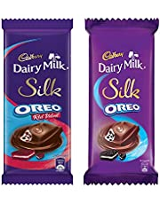 Cadbury Dairy Milk Silk Large Chocolates Combo (Silk Oreo Red Velvet 130g, Silk Oreo Chocolate Bar 130g), 260 g
