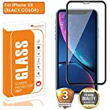 OpenTech® Edge to Edge Tempered Glass Screen Protector for Apple iPhone XR with Installation kit (Black Color)