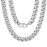 ChainsPro Hiphop Punk Jewelry Miami Heavy Curb Catena A Maglia Cubana Design per Uomo 46-76cm