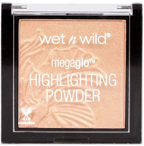 Schimmer-highlighting Powder (Wet n Wild - MegaGlo Highlighting Powder - samtweiches und hochpigmentiertes Puder, Precious Petals, 1 Stk. 5,4g)