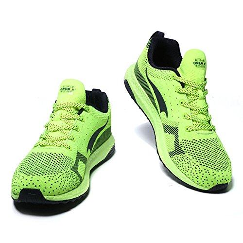 Onemix Uomo Donne Allenatori Economici Sneakers Leggero Scarpe Da Corsa Sportive DeepBlue verde