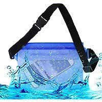 kwmobile borsa da spiaggia impermeabile per Smartphones - custodia da esterni protettiva per la spiaggia in blu