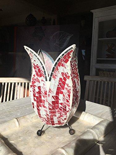 Lampe ethnischen Abatjour Artischoke handwerkliche mit Mosaik Spiegel und Glas bunt - Ethnischen Spiegel