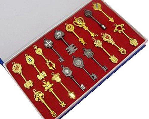 Cosplay Kostüm Schlüsselanhänger Key Ring Lucy Halskette Anime Legierung Kette Pendant Zubehör für Gift Box ()