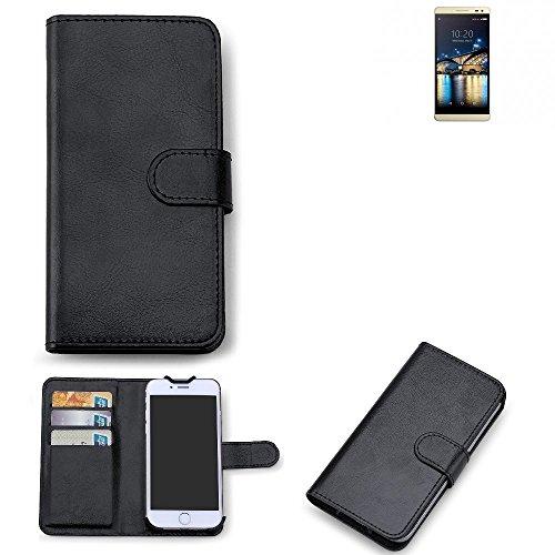 K-S-Trade 360° Wallet Case Switel Champ S5003D Schutz Hülle Smartphone Flip Cover Flipstyle Tasche Schutzhülle Flipcover Slim Bookstyle Walletcase schwarz, 1x
