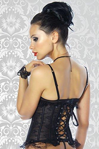 Yourdesignerz Taillen-Corsage aus Spitze Damen schwarz Schwarz