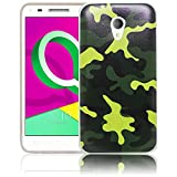 thematys Alcatel U5 3G 4047F Camouflage Silikon Schutz-Hülle weiche Tasche Cover Case Bumper Etui Flip Smartphone Handy Backcover Schutzhülle Handyhülle Alcatel U5 3G 4047F