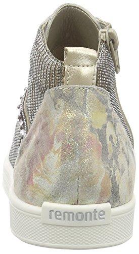 Remonte d0070, Sneakers Hautes femme Multicolore (multi/gold/altsilber/platin / 90)