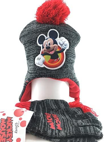 Mickey Mouse Beanie cap Nip Berkshire W Gloves Set Youth Youth Youth Bambini Cappello New 262003 | Ha una lunga reputazione