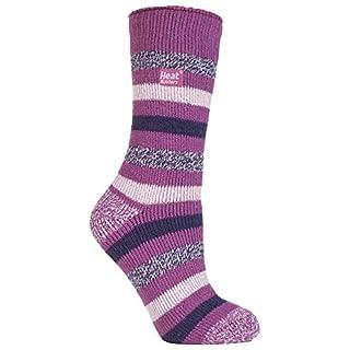 HEAT HOLDERS - Damen Gemusterte Twist Thermal Socken in 10 Farben, Größe 37-42 EUR (appleby)