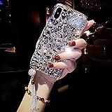 Cestor Glänzend Diamant Handyhülle für Samsung Galaxy A6 2018,Luxus 3D Bling Glitzer Kristall Strass TPU Silikon Hülle für Samsung Galaxy A6 2018,Anti-Kratzer Schutz Gummi Bumper Rückseite Hülle für Samsung Galaxy A6 2018,Silber