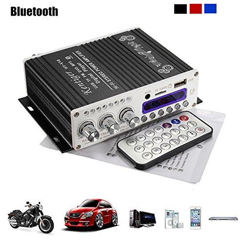 ELEGIANT 12V Mini Bluetooth HiFi Auto KFZ MP3 Stereo Audio Endstufe Amplifier Verstärker Car Audio Amplifier AMP Roller Booster Radio MP3 Verstärker MP3 für Auto KFZ PKW Motor CD DVD Radio Auto-stereo