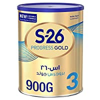 Wyeth Nutrition S26 Progress Gold Stage 3, 1-3 Years Premium Milk Powder for Toddlers with Nutrilearn System, 900g, Pack of 1