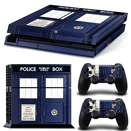 Ps4 Playstation 4 Consola Design Foils Sticker Decal Pegatinas + 2 Controlador Skins Set (Police