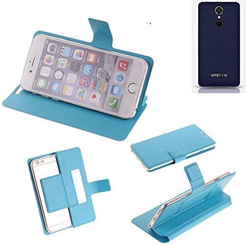 K-S-Trade Flipcover für Emporia SMART.2 Schutz Hülle Schutzhülle Flip Cover Handy case Smartphone Handyhülle blau