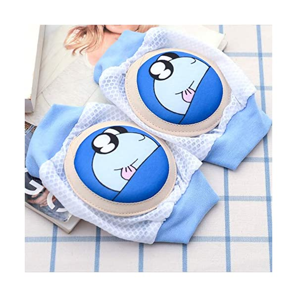 Niños de dibujos animados Almohadilla para la rodilla del bebé Calcetines de gateo transpirables Protector de rodilleras… 5