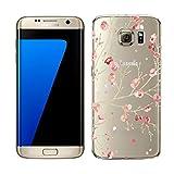 Galaxy S6 Edge Plus Hülle, Hülle für Samsung Galaxy S6 Edge Plus, Ysimee Transparent TPU Silikon Bumper Hülle Ultradünnen Weiche Handyhülle Anti Scratch Diamant Silikonhülle, Blumen #13