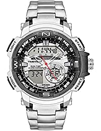 TIMEWEAR Analogue - Digital Men's Watch (Silver Dial Silver Colored Strap)