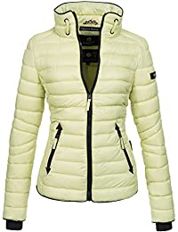 75a5e8cd28f8 Marikoo Damen Jacke Steppjacke Übergangsjacke gesteppt mit Kordeln Frühjahr  Camouflage B405