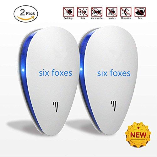 SIX FOXES Repellente ad Ultrasuoni e Elettromagnetico per Topi, Scaccia Anti Insetti,...