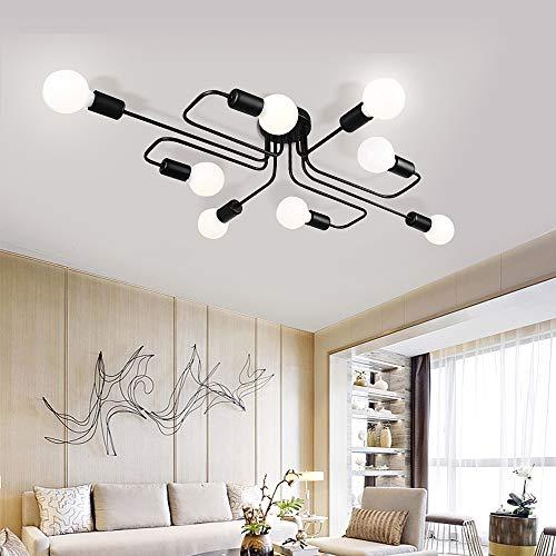 Lingkai Modern Plafoniera Lampadario Metallo industriale Lampada da soffitto a pendolo sospensione per cucina Salotto Sala da pranzo Camera da letto Caffetteria
