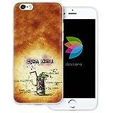 dessana Cocktail Rezepte Transparente Silikon TPU Schutzhülle 0,7mm Dünne Handy Tasche Soft Case für Apple iPhone 6/6S Cuba Libre