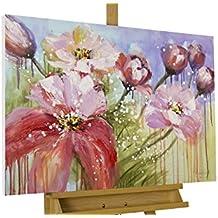 Amazon Fr Tableau Peinture Fleurs Kunstloft