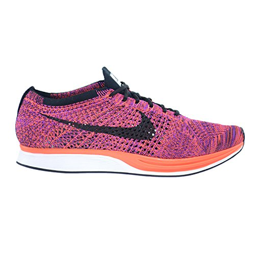 Nike Flyknit Racer, Chaussures de Running Entrainement Homme black, black-hypr orng-vvd prpl